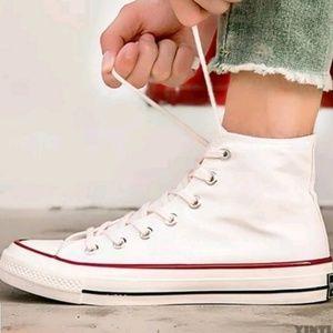 Shoes - NWOT Platform Hightop Sneakers Canvas Shoes Unisex
